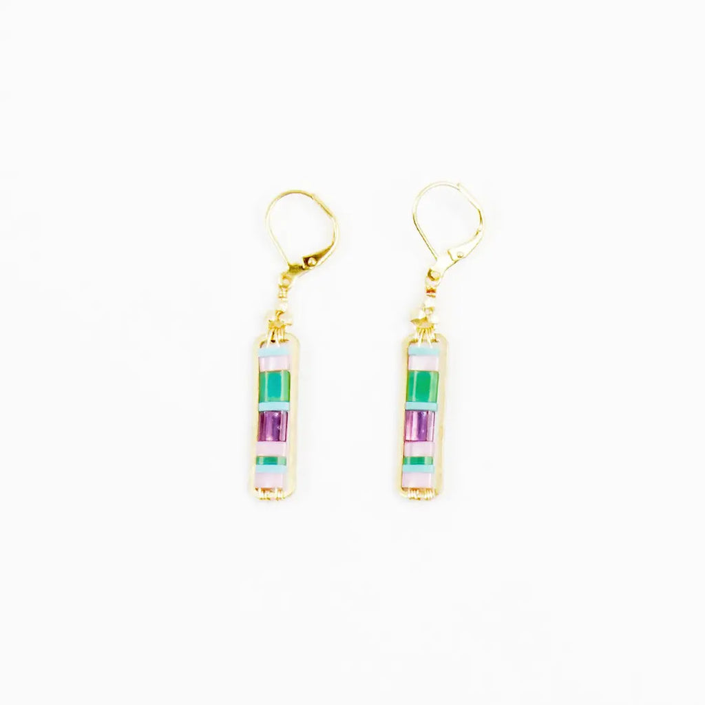 Miyuke Colorblock Dangle Earring - Pastel