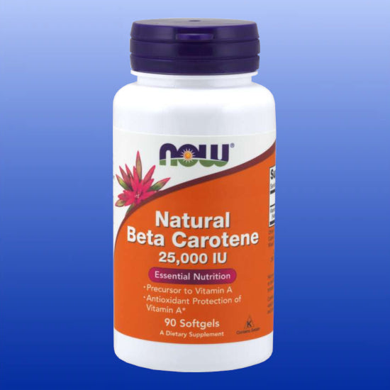 Beta Carotene (Natural) 25,000 IU 90 Softgels