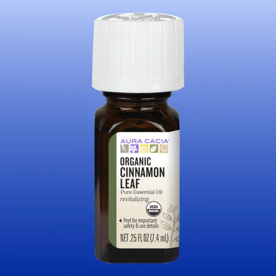 Organic Cinnamon Leaf Essential Oil 0.25 Oz