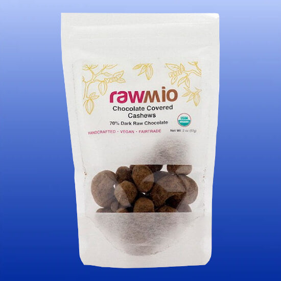 Organic Chocolate Covered Cashews 2 Oz