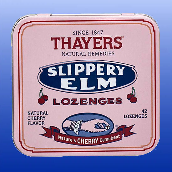 Slippery Elm Lozenges Cherry 42 Lozenges