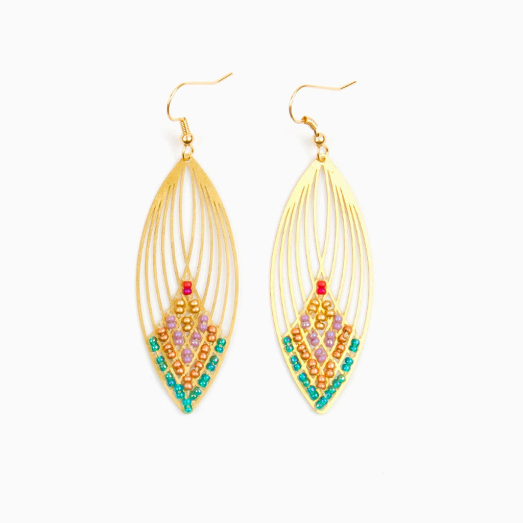 Swooping Oval Earring - Moroccan