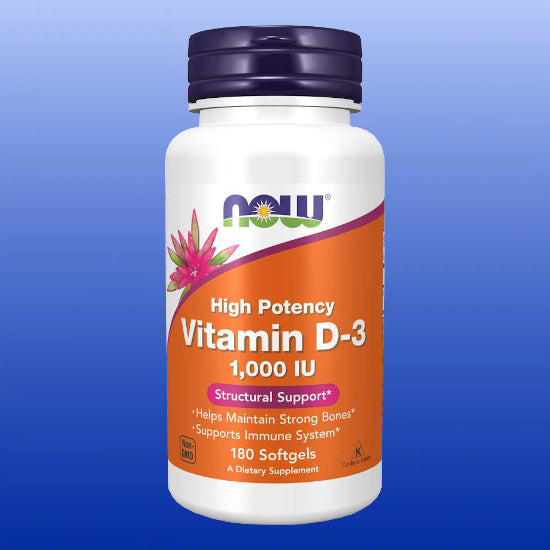 Vitamin D3 1000 IU 180 Soft Gels