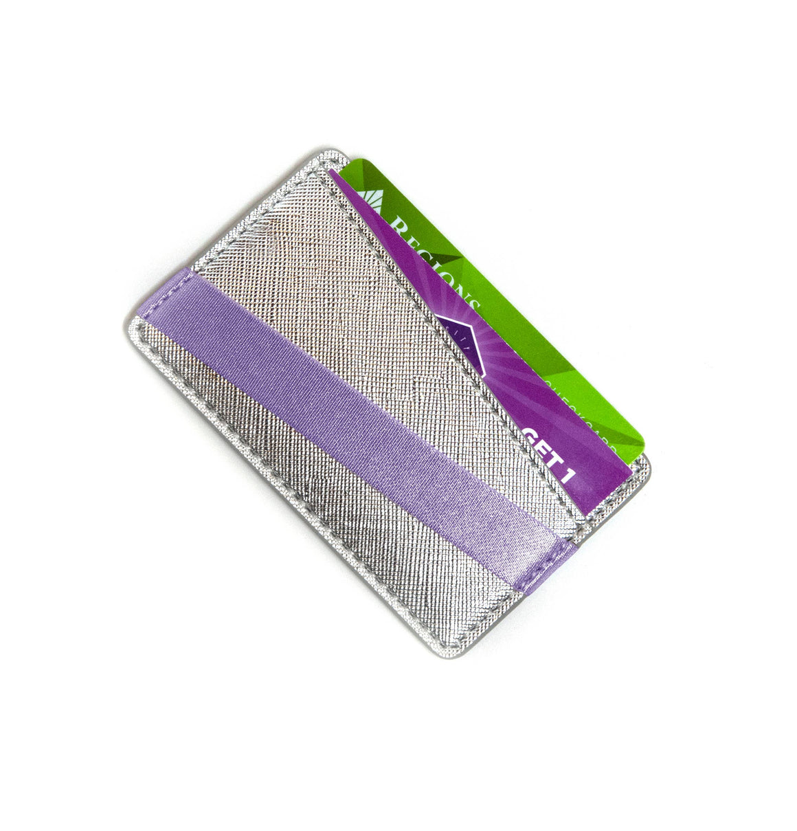 Origami Phone Back Wallet - Platinum & Lavender