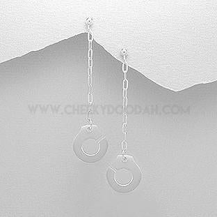 Sterling Silver Handcuff Drop Earrings