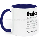 'FukOffee' Two Tone Mug - CheekyDoodah