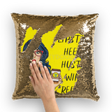 CheekyDoodah Vintage Style 2 tone sequin cushion cover Gold