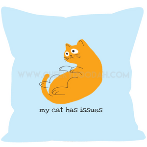 'My Cat Has Issues' Cushion - CheekyDoodah