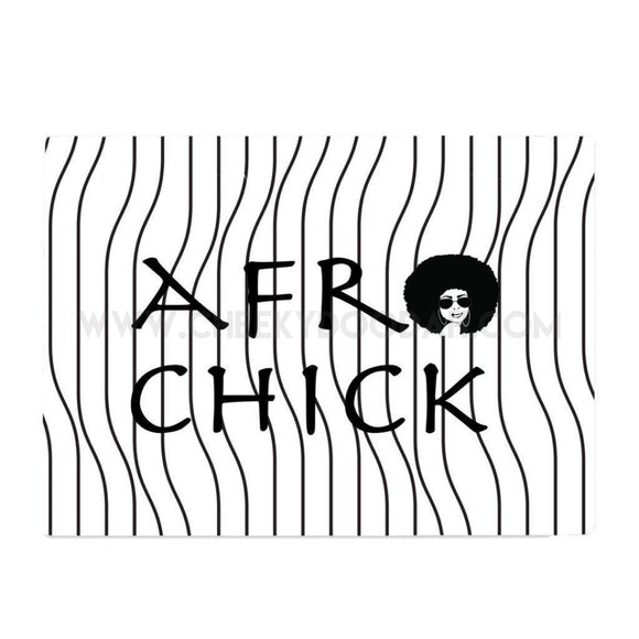 Afro Chick Glass Chopping Board - CheekyDoodah