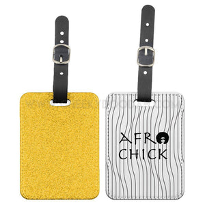 Afro Chick Luggage Tag - CheekyDoodah