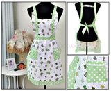 Green Bow Apron
