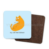 'My Cat Has Issues' 4 Pack Wood Coaster Set - CheekyDoodah