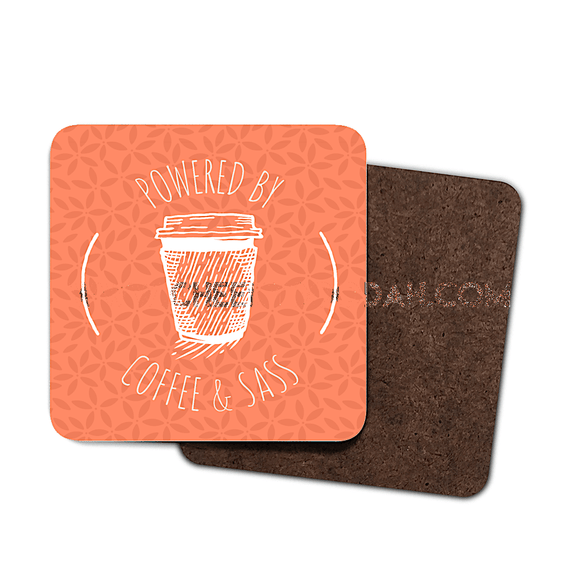 Powered By Coffee and Sass Coaster Set - CheekyDoodah