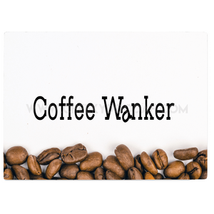 """Coffee Wanker"" Glass Chopping Board - CheekyDoodah"