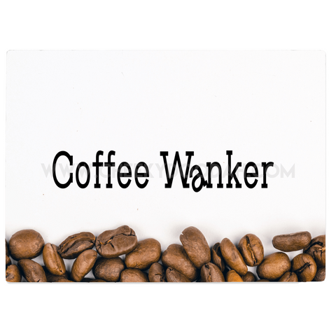 "CheekyDoodah ""Coffee Wanker"" Glass Chopping Board in two sizes"