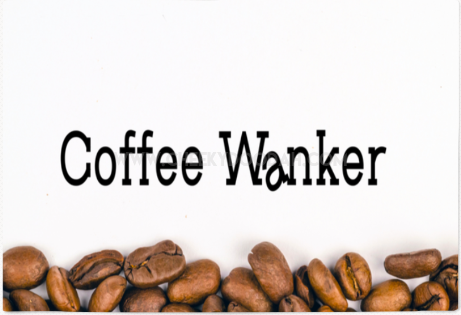 Coffee Wanker Cotton Tea Towel - CheekyDoodah