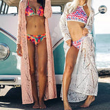 Lace Crochet Bikini Long Cover up - CheekyDoodah