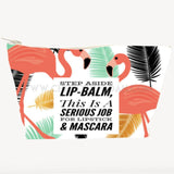 'Step Aside Lip-Balm' Large Cosmetic Bag-Cosmetic Bags-CheekyDoodah