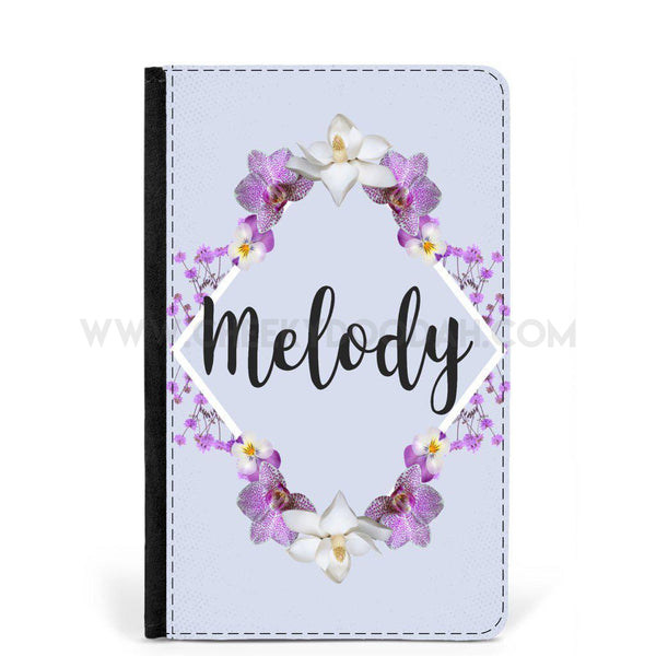 Personalised Floral Passport Holder or Luggage Tag-Passport cover-CheekyDoodah