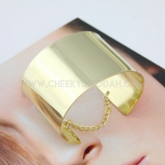 Metal Cuff bangles in Silver or Gold - CheekyDoodah