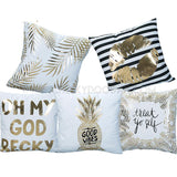 OMG BECKY Gold Printed Cushion - CheekyDoodah