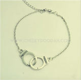 Handcuff Silver plated Anklet