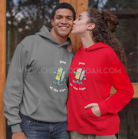 "Mens ""Joint At The Hips"" College Hoodie - CheekyDoodah"