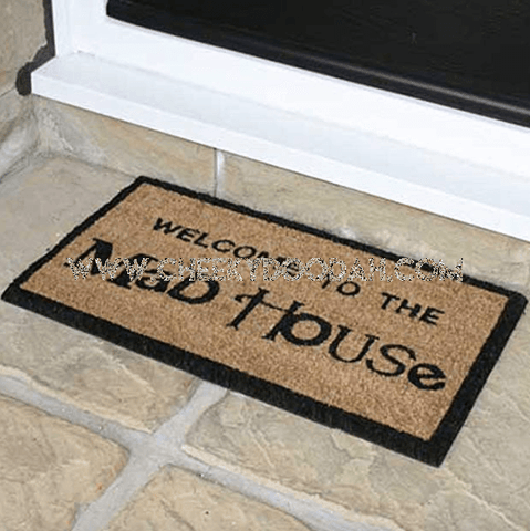 """Welcome To The Madhouse"" Fun Doormat - CheekyDoodah"
