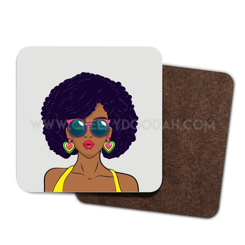 Melanin Chic 4 Pack Coaster Set - CheekyDoodah