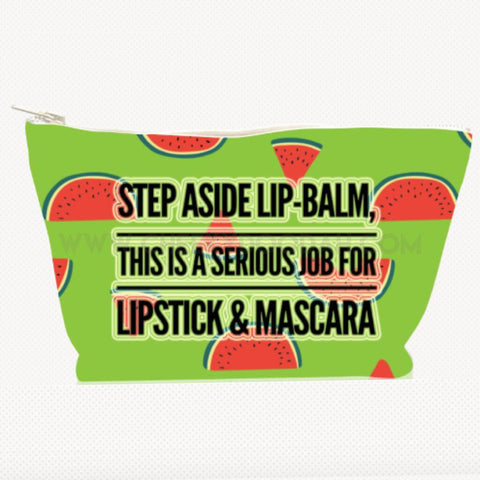 'Step Aside Lip-Balm' Large Cosmetic Bag - CheekyDoodah