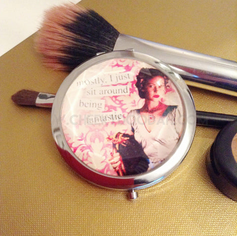 Cheeky Compact Mirror Mostly I Just Sit Around Being Fantastic