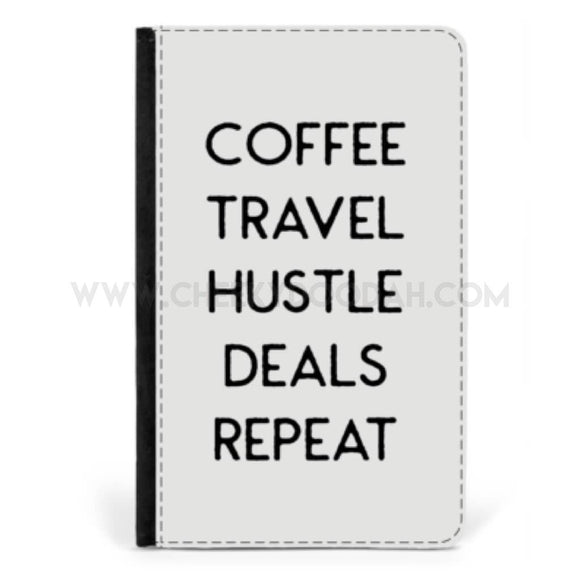 'Coffee Travel Hustle' Passport cover - CheekyDoodah