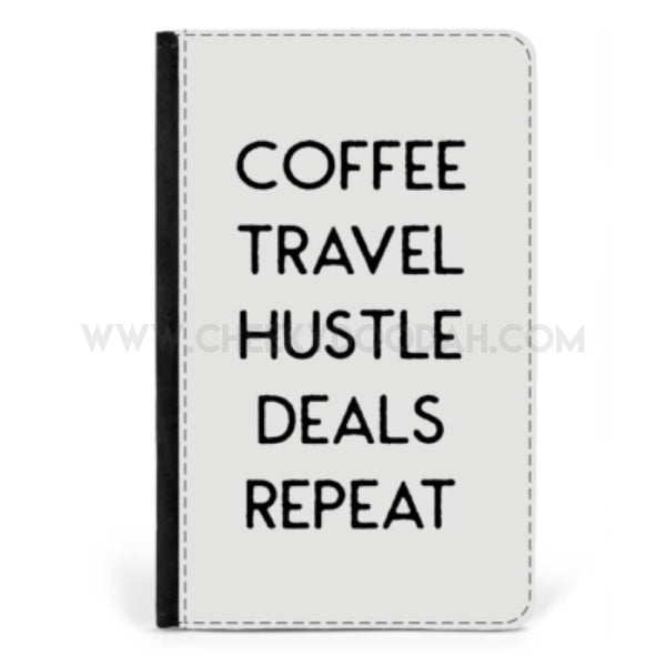 'Coffee Travel Hustle' Passport cover