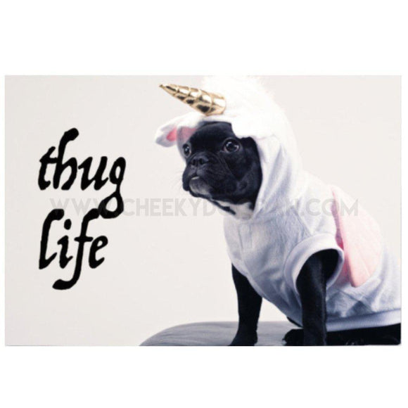 Pugs Thug Life Cotton Tea Towel - CheekyDoodah