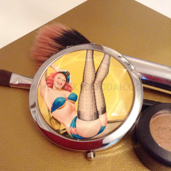 'Sailor Girl' Compact Mirror - CheekyDoodah