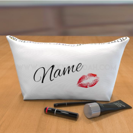 Personalised 'Lips' Large Cosmetic Bag-Cosmetic Bags-CheekyDoodah