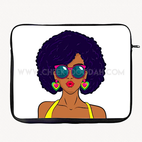 Melanin Chic Laptop Sleeve & Tablet Cases-Tablet case-CheekyDoodah