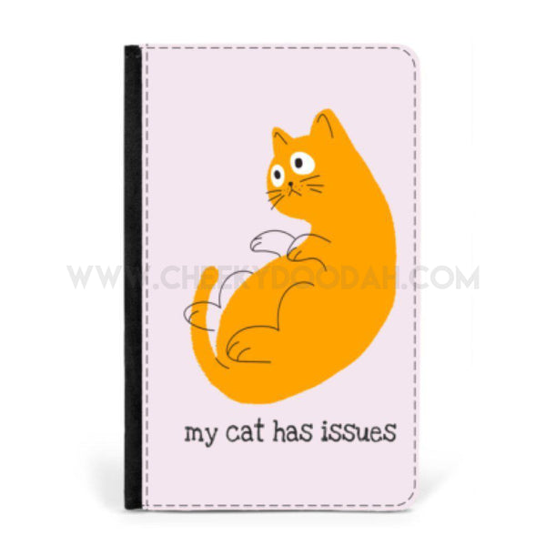 'My Cat Has Issues' Passport Cover-Passport cover-CheekyDoodah