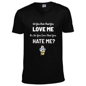 "Mens ""Do You Hate That You Love Me"" V Neck Tee - CheekyDoodah"