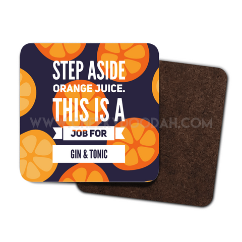 Step Aside - G&T, 4 Pack Coaster Set - CheekyDoodah