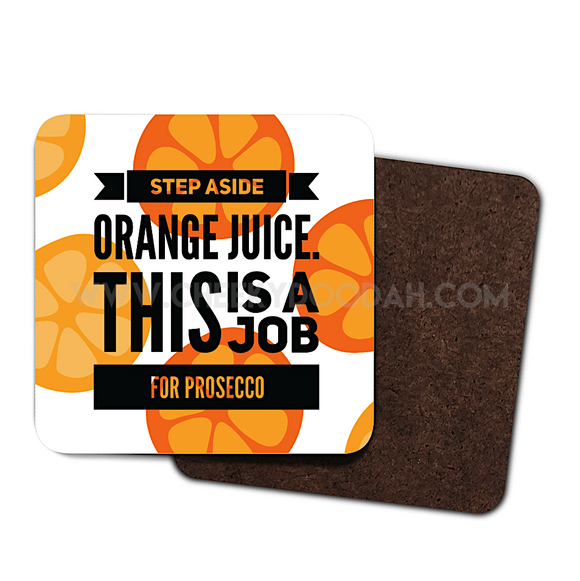 Step Aside  - Prosecco, 4 Pack Coaster Set - CheekyDoodah