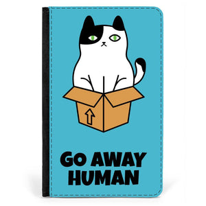 'Go away human' iPad Mini Faux Leather Flip Case - CheekyDoodah