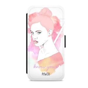 'Know your power' flip phone case - CheekyDoodah