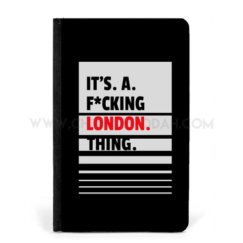 Its A F*cking London Thing Passport Cover & Tag-Passport cover-CheekyDoodah