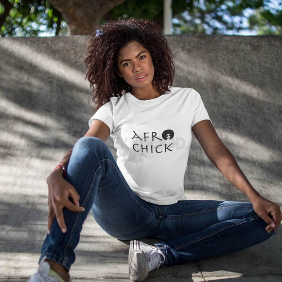 Afro Chick Fashion T-Shirt - CheekyDoodah