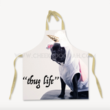 CheekyDoodah Thug Life Cotton Apron, Tan straps