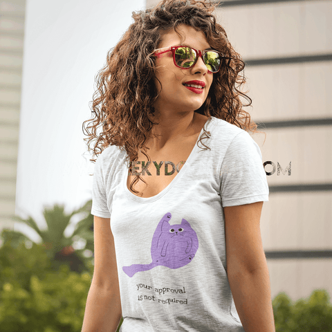 'Your Approval is Not Required' Ladies Scoop Neck T-Shirt - CheekyDoodah