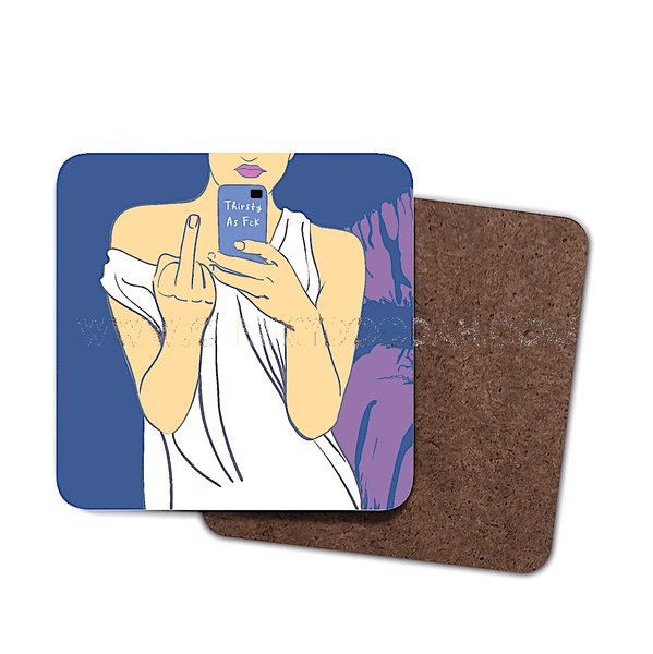 """Thirsty As Fck"" 4 Pack Coaster Set - CheekyDoodah"