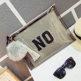 PVC Envelope Clutch Double Side Print YES & NO