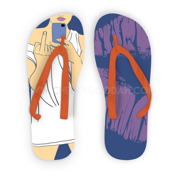 Middle Finger Adult Flip Flops - CheekyDoodah